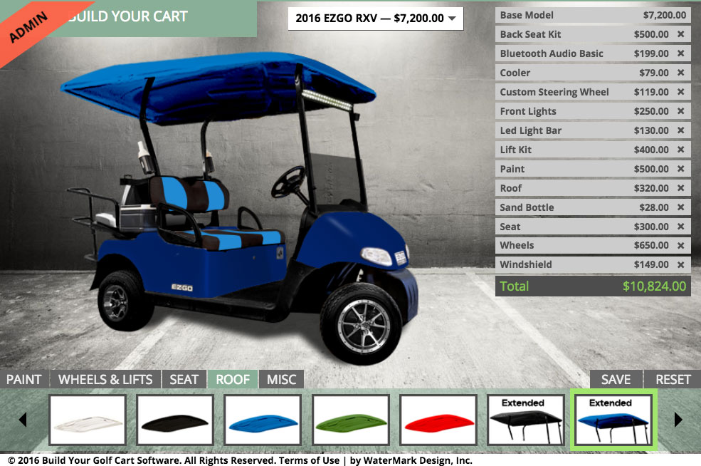 BYGC 2.5 Has Arrived, EZGO RXV Model Available With Customization, LED Light Bar, Battery Options, Tinted Windshields