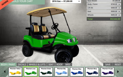 BYGC 2.4 Has Arrived, Club Car Precedent Phantom Body Color Choices, Dashboard Updates, Saved Cart Form Required Fields Added