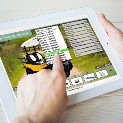 build your golf cart software tablet