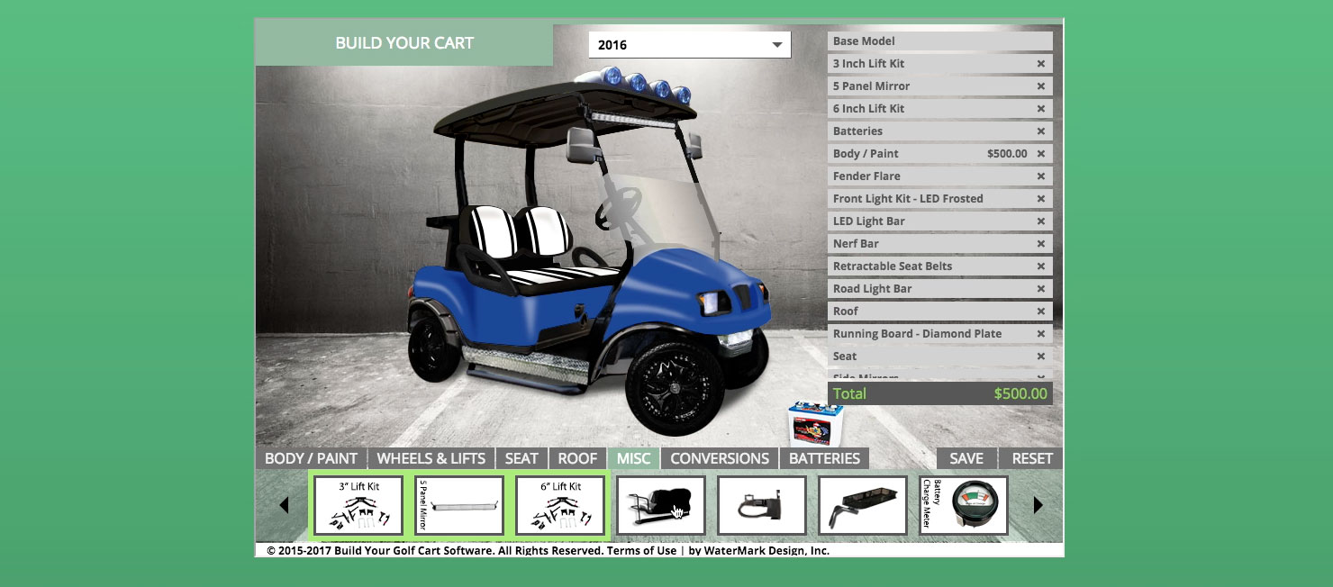 Build A Golf Cart Online In 1 Minute Build Your Golf Cart Software