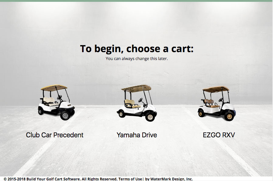 Build Your Own Golf Cart Kit >> Cart Builder v5 (10% Off) | Build Your Golf Cart Software