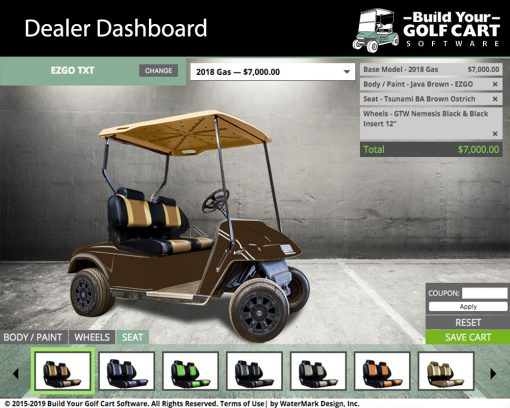ezgo txt golf cart builder