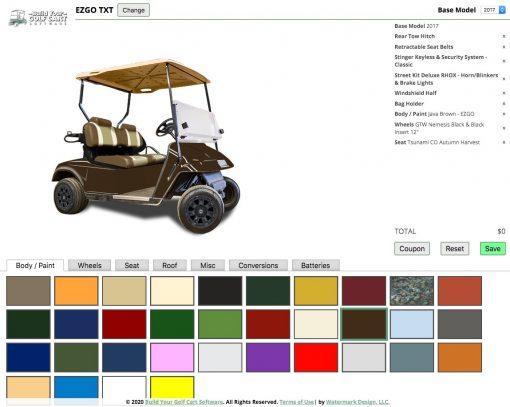 custom ezgo golf cart