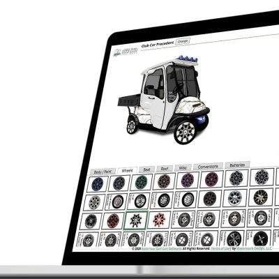 build your golf cart software laptop