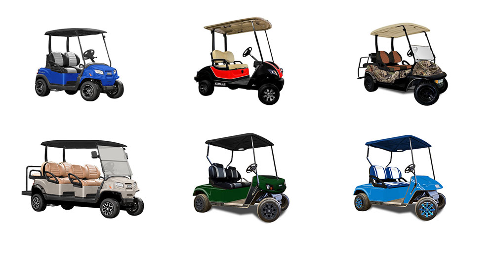 six golf carts mashup
