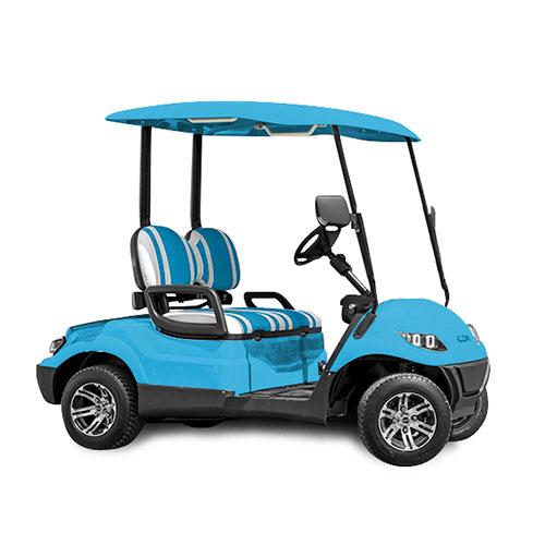 icon ev i20 custom golf cart blue
