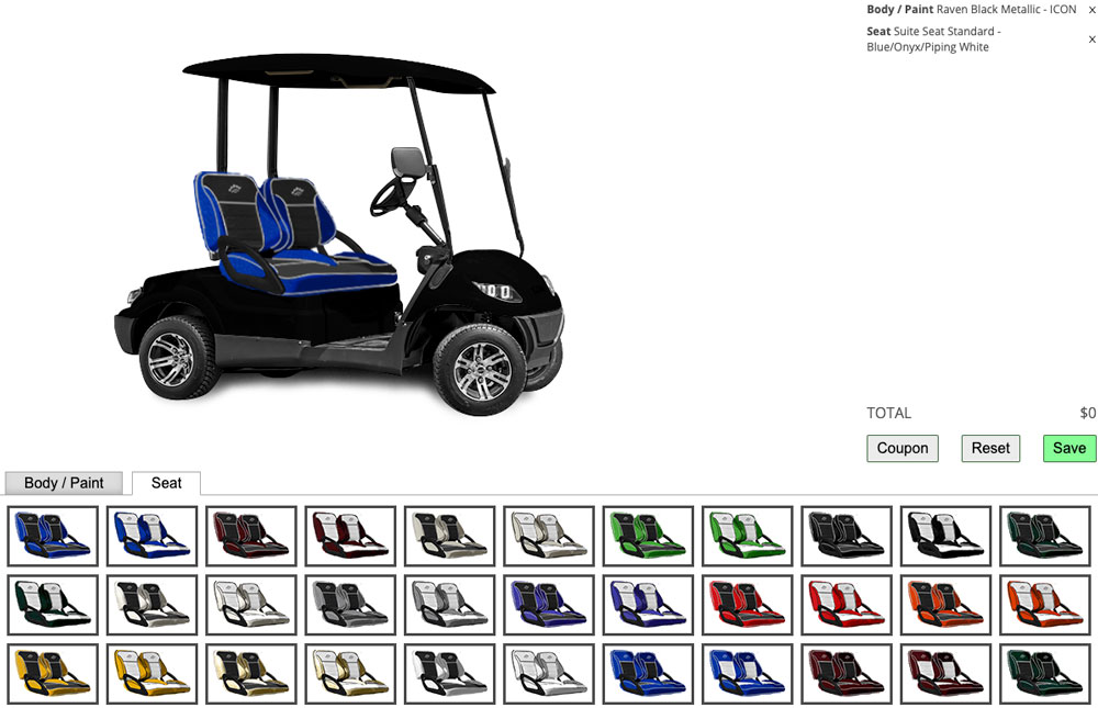 build your own golf cart icon ev