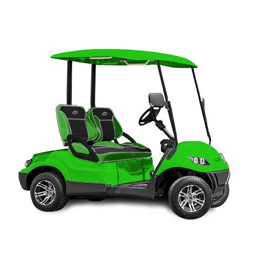 icon ev i20 custom golf cart lime